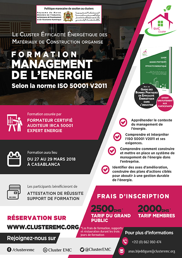 Affiche formation ISO 50001 WEB