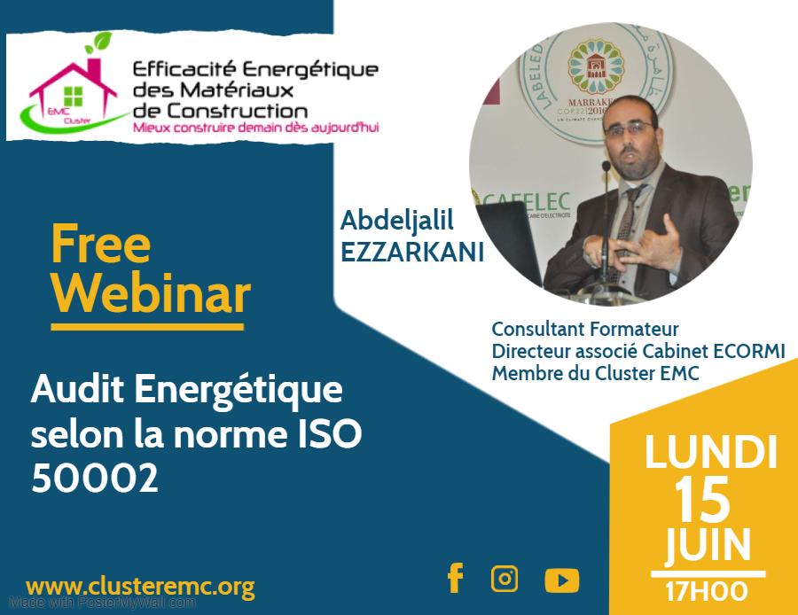 Webinar Audit énergétique selon la norme ISO 50002