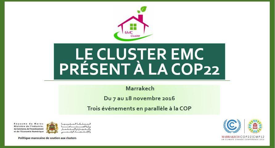 Le Cluster EMC au coeur de la COP22