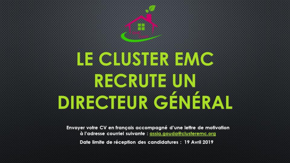 Le Cluster EMC RECRUTE UN DIRECTEUR Général